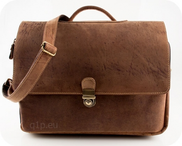 Business Ledertasche mit Laptopfach
